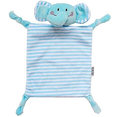 Wenwenzui-ES Toalla Suave para bebé Toalla Suave Saliva Animal Comfort Muñeco Peluche Elefante