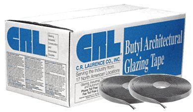 CRL Gray 1/4'' x 1/2'' Butyl Architectural Tape - 20 rolls
