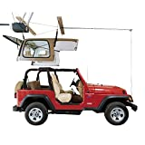 HARKEN Jeep Hardtop Garage Storage Ceiling Hoist | 4 Point Jeep System |6:1 Mechanical Advantage | Lift, Single-Person, Hanger, Pulley, Wrangler, Rubicon