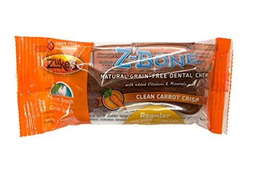Zuke'S Z-Bones Dog Dental Chews, Clean Carrot Crisp, Regular