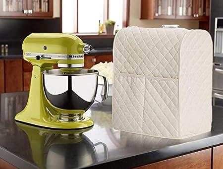 in pelle Copertura per miscelatore fisso da cucina DesignerBox con organizer per utensili da cucina per mantenere tutto pulito e al sicuro 14 x 9 x 17inch Beige