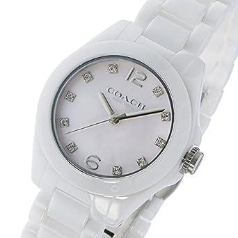 b5c33fac95 コーチ COACH トリステン ミニ セラミック TRISTEN クオーツ レディース 腕時計 14502154 ホワイトシェル [並行輸入品