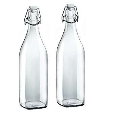 Bormioli Rocco Swing Glass 33.75 Ounce Bottle, Set of 2