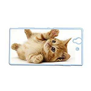 Generic Silica Hard Plastic Back Phone Case Custom Design With Cat Clipart Cartoon For Sony Xperia Z L36H Choose Design 8
