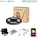 MagicLight LED Strip Lights, WiFi Wireless Smart Phone Controlled Light Strip Kit 16.4ft 150leds 5050 Waterproof IP65 LED Lights, Working with Android and iOS System, IFTTT, Google Assistant and Alexa