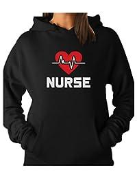 TeeStars - Nurse Life Line Heart Graduation Gift for Nurses Women Hoodie
