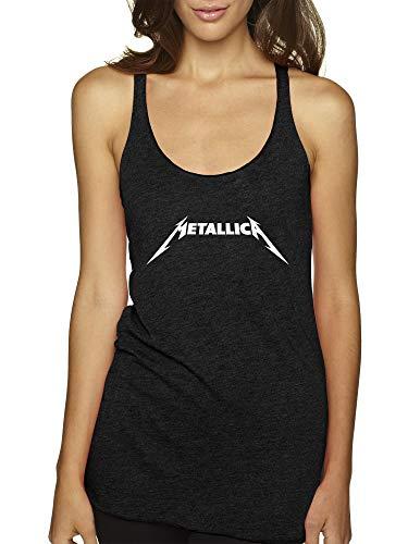 New Way 925 - Women's Tank-Top Metallica Metal Rock Band Logo Medium Black