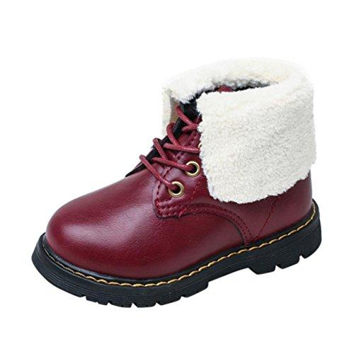 Clode® Kleinkind Kinder Jungen Mädchen Martin Sneaker Warme Stiefel Kinder Baby Freizeitschuhe Wine