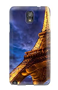 New Fashion Premium Tpu Case Cover For Galaxy Note 3 - Eiffel Tower Hdr
