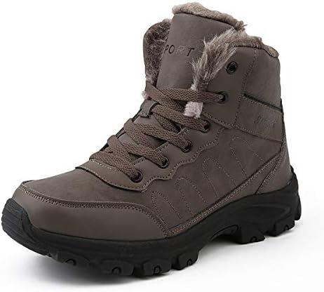 冬の靴メンズ裏地ブーツ太い唯一のノンスリップスノーブーツ快適な冬のブーツ屋外ノンスリップワークブーツ防水快適なカジュアルシューズホットトレッキングシューズ