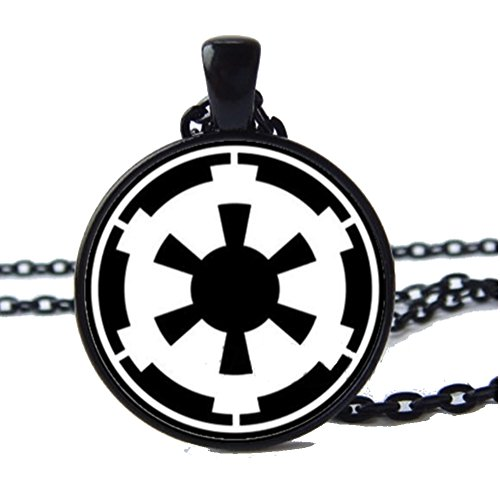 Star Wars Pendant Mens Necklace Empire, Rebel Alliance, Darth Vader Necklace (Empire)