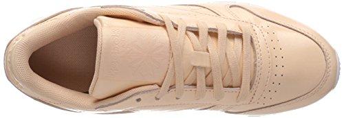 Reebok Classic Leather Patent, Baskets Femme Beige (Desert Dust/white)