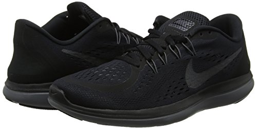 Amazon.com | NIKE Womens Flex 2017 RN Running Shoe Black/Metallic Hematite/Anthracite/Dark Grey Size | Road Running