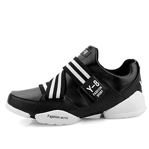 Hombres Zapatos deportivos Aumentado impermeable Antideslizante Zapatos de basquetbol Zapatillas Black