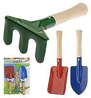 Gartengeräte Schaufel und Rechen für Kinder 3 Stück Set