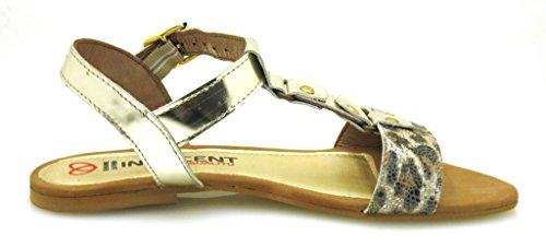 Sommer Ouro Leo Innocent Leder Sandale Holz AD04 Schuhe Ledersandale bequeme 184 qxUxnvg