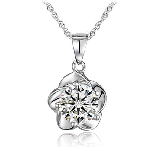The Plum Blossom Platinum Plated Pendant Necklace (Plum Blossom Princess Costume)