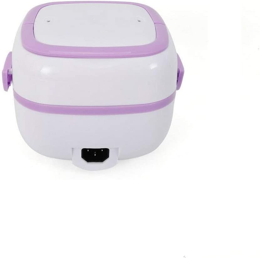 1L Mini Rice Cooker, Multifunction Purple Electric Lunch Box, Portable Office Food Heater Steamer Warm Keeping Bento Warmer, Stylish And Fashionable, 110V 200W