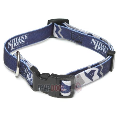 "Penn State Nittany Lions NCAA Dog Collar S: 10-14"" length, 5/8"" width"