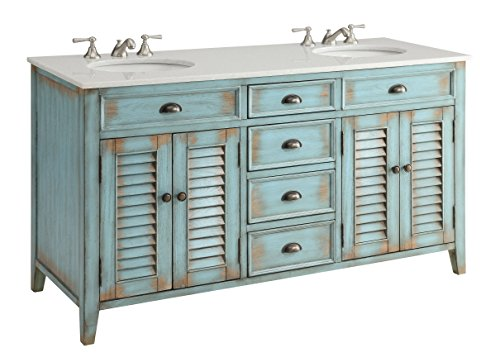 "hot sale 60"" Cottage look Abbeville Double Sink Bathroom Vanity Model CF88324-60W"