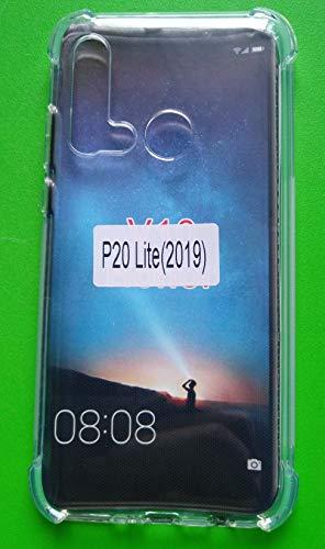 TIYA Case Clear for Huawei P20 Lite 2019 Nova 5i TPU Four Corners Cover Transparent Soft