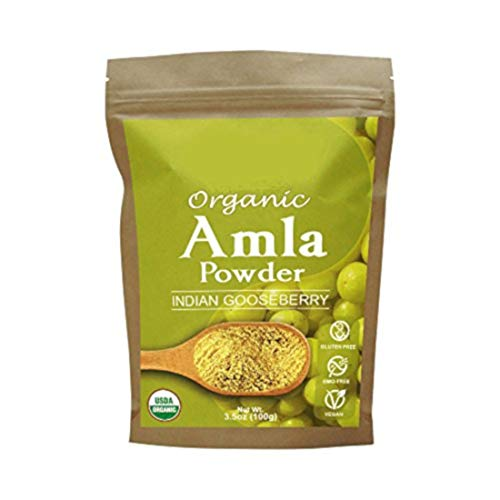 Certified Organic AMLA Powder 3.5 Oz, USDA Organic. Natural Vitamin C and Antioxidants. Raw Whole Superfood. 100% All Natural, Pure and Fresh. No GMO. Gluten Free by Tropical Green Organics