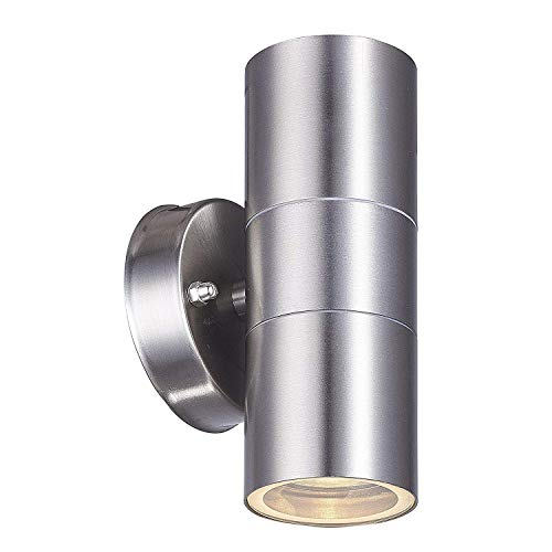 (Outdoor Wall Lamp, earlybird-fly Up and Down Cylinder Wall Light Fixture, IP64 Waterproof Exterior Wall Sconce Porch & Patio Lighting (Standard Fitting Without Light Bulb) (up and Down))