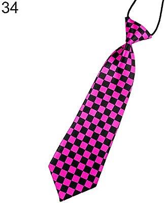 quanjucheer - Corbata para niños, diseño de Calavera con Rayas ...