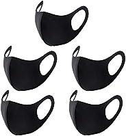 Julvie Cotton Mask, 5 pcs Washable Reusable Cloth Mask Unisex Dustproof Anti-pollen Pet Dander, Droplet Pollution