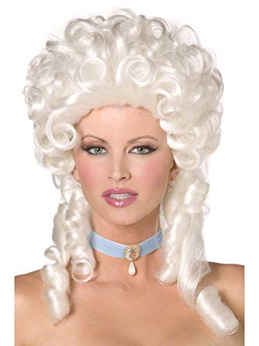 Ladies Baroque Historical Marie Antoinette Fancy Dress Curly Judge Wig by Fancy Me]()