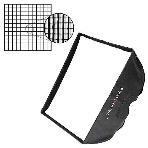 Fotodiox Pro 24x24 Softbox Plus Grid (Eggcrate) for Studio Strobe with Soft Diffuser and Dedicated Speedring, for Alien Bees, Alienbees, Strobe Flash Light
