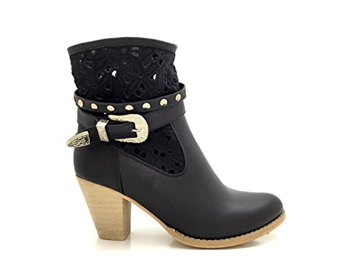 NANA CHIC Bottine Similicuir Perfor Chaussure Femme Style w0qgxZdqa