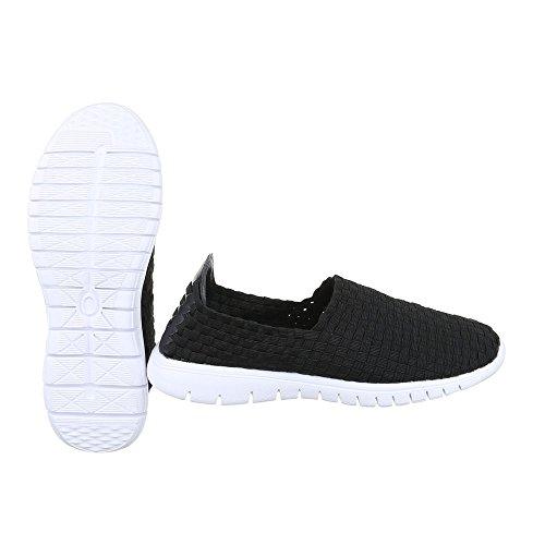 Ital-Design - Zapatillas de casa Mujer Schwarz DSC002-6
