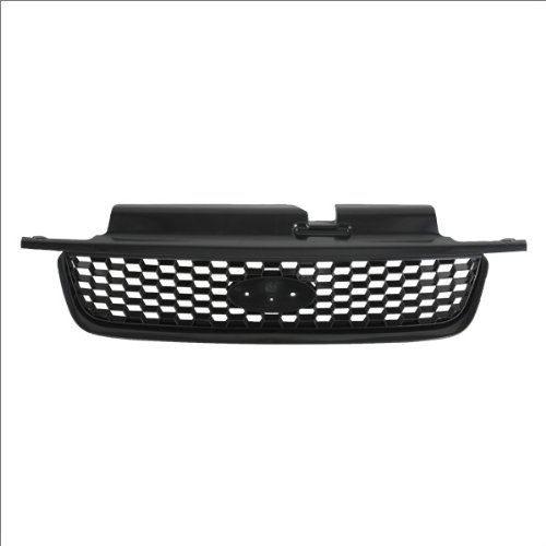 CarPartsDepot, Front Grille Grill Replacement New Matte Black Grid w/o Chrome, 400-18819 FO1200389?YL8Z17B968AA??