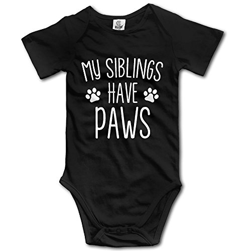 Infant Costumes At Party City (Infants Boy's & Girl's My Siblings Have Paws Short Sleeve Bodysuit Outfits For 6-24 Months)