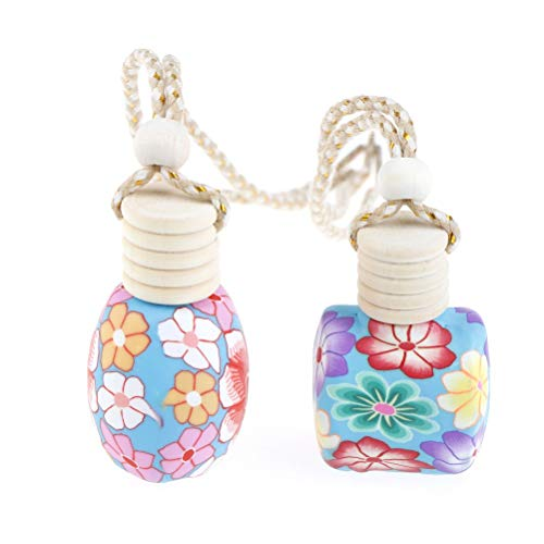 Figurines & Miniatures - Air Fresher Pendant Without Perfume Classical Car Home Auto Hanging Scent Empty Bottle Styling - Silver People Miniatures Figurines Metal