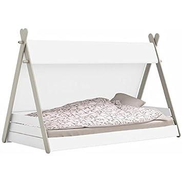 Habeig Kinderbett Tipi Mit Lattenrost 90x200cm Jugendbett Bett