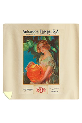 Anisado Feixas Vintage Poster (artist: Camps) Spain c. 1934 (88x88 Queen Microfiber Duvet Cover) by Lantern Press