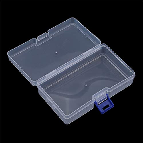 LZIYAN Rectangular Nail Storage Box Clear Transparent Nail Art Beads Organizer Display Box Container For Jewelry Rings,Blue buckle by LZIYAN (Image #7)