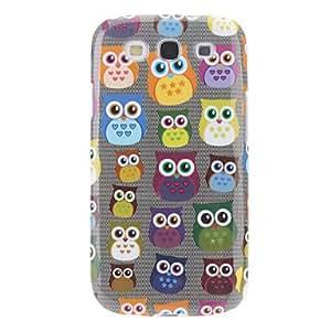 SOL Cartoon Design Owl Pattern Hard Case for Samsung Galaxy S3 I9300