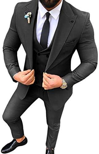 スーツ メンズ スリーピース カジュアル 大きいサイズ スリム セットアップ 結婚式 夏 春 紳士服
