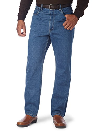 Harbor Bay by DXL Big and Tall Relaxed-Fit Jeans (58 X 30, Medium - Jeans Fit Classic Bay