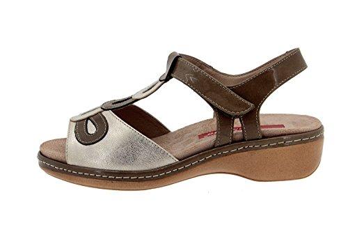 Amples Taupe en Chaussure Cuir Comfortables Femme PieSanto Sandale 4820 Semelle Confort Amovible 6UPWvnvg