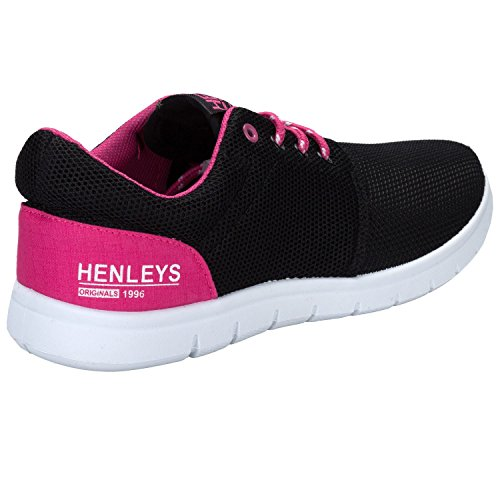 Baskets filet Henleys pour dame en noir