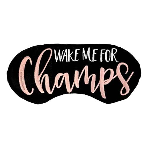 Wake Me For Champs Sleep Mask Embroidered Eye Mask Bachelorette Party Favors Brunch Champagne