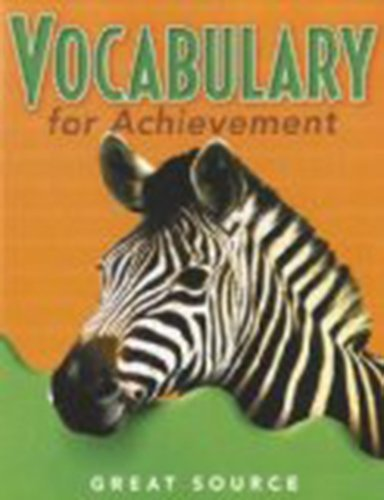 Great Source Vocabulary for Achievement: Student Edition  Grade 5 2000