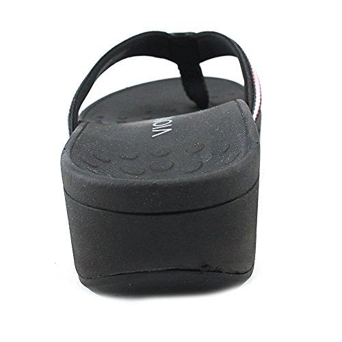 Sandalo da donna con plateau alta marea nero floreale 9 M