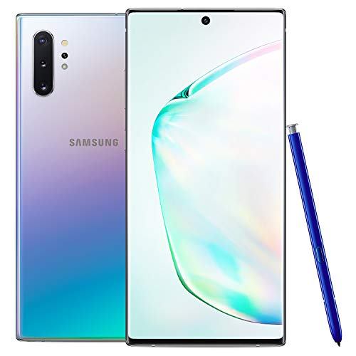 Samsung Galaxy Note 10+ Plus Factory Unlocked Cell Phone with 256GB (U.S. Warranty), Aura Glow (Silver) Note10+ w/Samsung Galaxy Watch Active2 (44mm), Aqua Black - US Version with Warranty