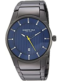 Men's Quartz Stainless Steel Casual Watch, Color:Grey (Model: KC15103012)