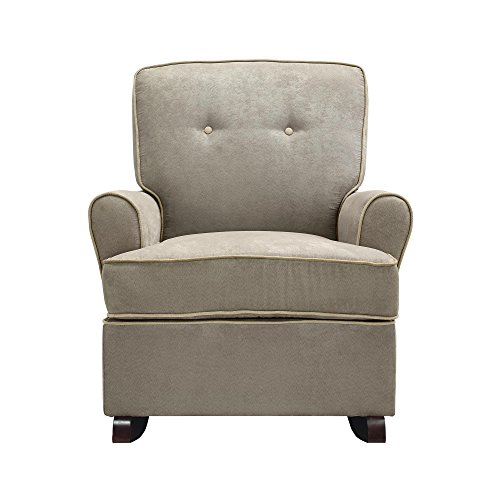 Brown Upholstered Rocker (Baby Relax The Tinsley Nursery Rocker Chair, Light Brown)